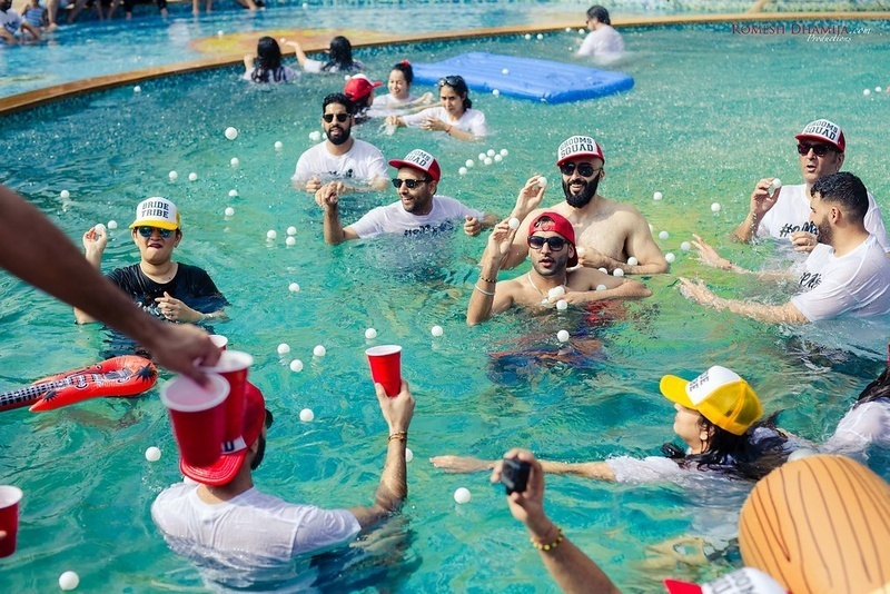 wedding pool party, destination wedding pool party, wedding planner in udaipur, wedding planner in rajasthan, wedding planner in india, event planner in udaipur, event planner in rajasthan, best wedding planner in udaipur, fun floaters, swimming floaters